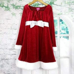 Pinky Girls Red/white Christmas Dress Sz 10